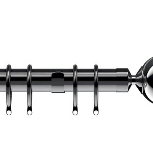 Nikola Polished Graphite Curtain Pole