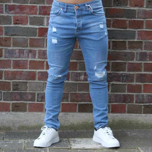 Denim Jeans - Destroyed Slim Fit 1