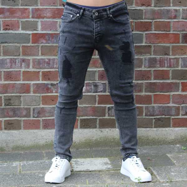 Destroyed Jeans Slim Fit Black 1