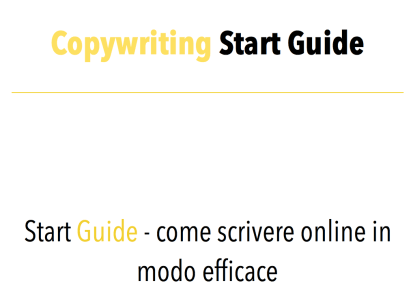 Copywriting Start Guide