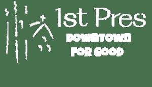 first pres logo white