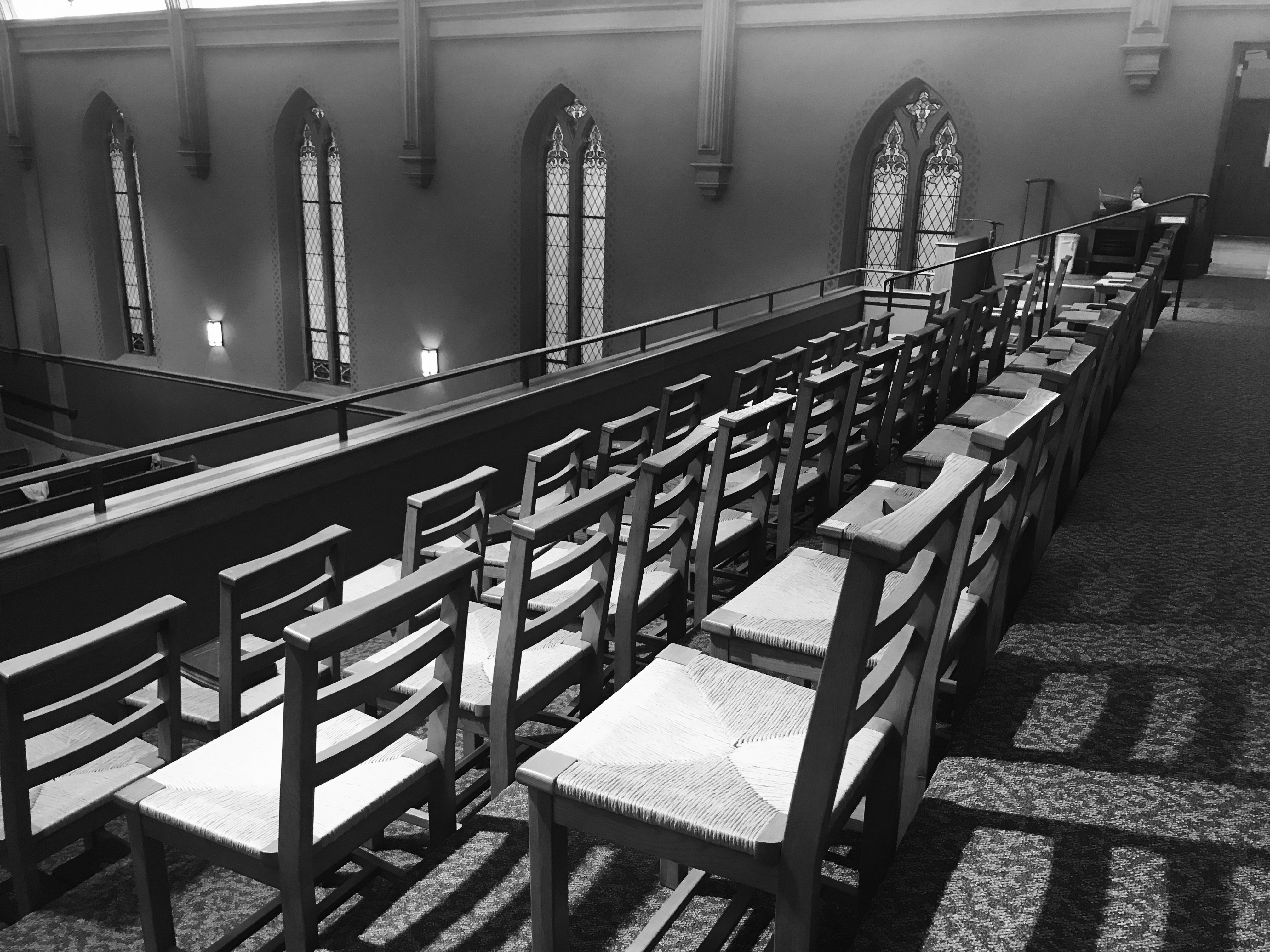 image of sanctuary chairs upper level