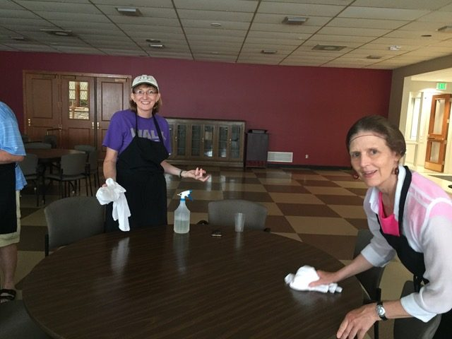 Cleaning at Sunday Evening Meals