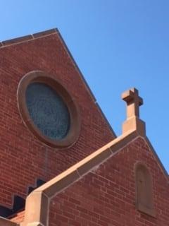 SF church and sky