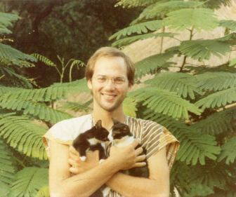 Scott Glotfelty with kittens