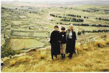 Lesa, Amy Mowery, & Theresa Faix at Thaba Bosiu