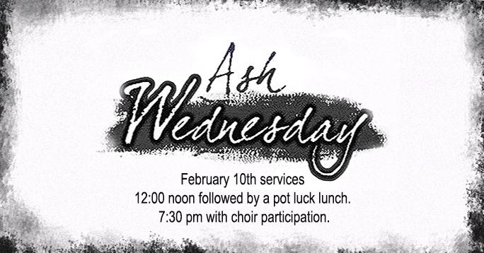 Ash Wednesday 2016 POST