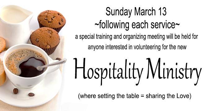 Hospitality Ministry POSTa