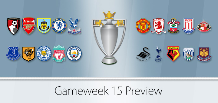 FPL Gameweek 15 Preview