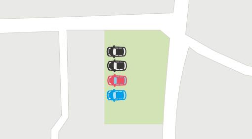 車を垂直に駐車