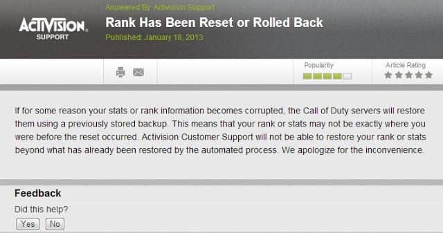 [BO2] Black Ops 2: Activisionは「巻き戻り・完全リセットバグ」に関する対応はこれ以上しない?