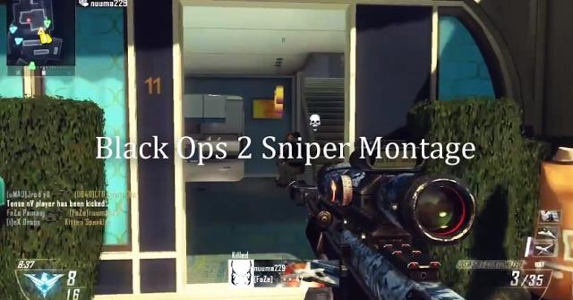 [BO2] Faze:早速『Black Ops 2』初のスナイパーモンタージュ公開! 3:57