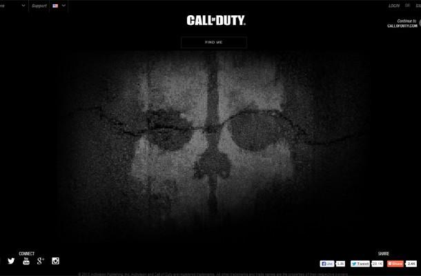 CoD:G:新作は『Call of Duty:Ghosts』で確定!新CoDの公式ティザーサイトで発覚
