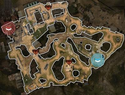 [MW3] ドミネーター必見:マップ「Village」の使えるまめちしき