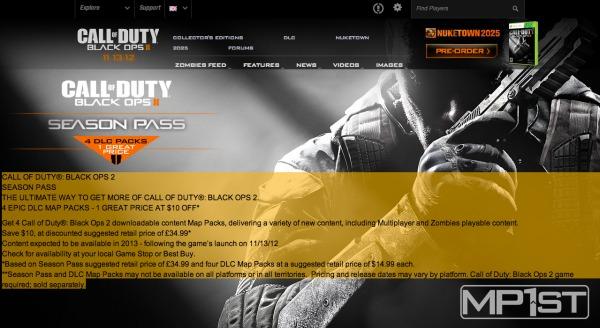 [BO2] 公式リーク:『Black Ops 2』のマップパックは4つ、シーズンパスは$50で発売か。ELITE無料化の噂も