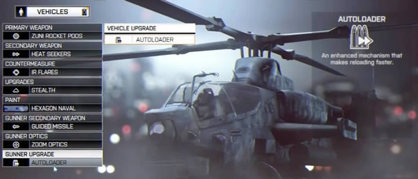 BF3と同様にリロード速度を改善するオートローダーが用意されている