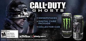 Call of Duty: Ghosts の モンスターエナジー缶、日本でも発売か!「デジタルケアパッケージ」付き!