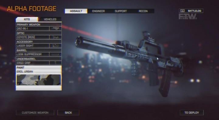 BATTLEFIELD 4:コアデザイナーによる武器カスタマイズの詳細解説。新リロードシステムも