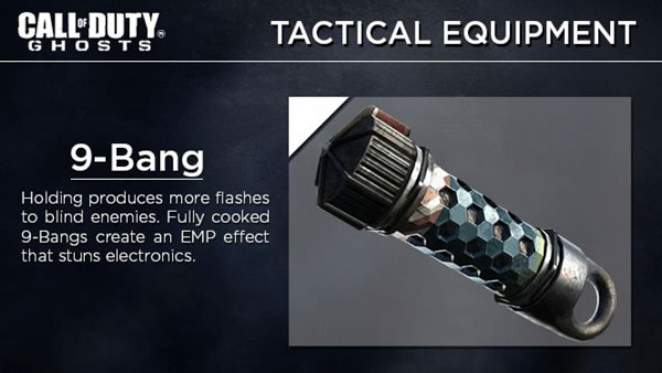 """大幅強化?『CoD:ゴースト』版フラッシュバン""""9-Bang""""詳細。溜めるとEMP効果も付加"""