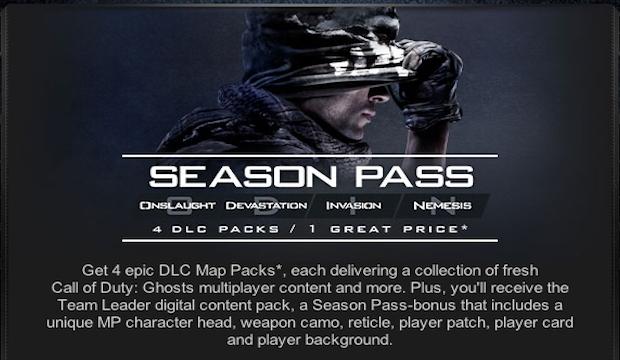 CoD: ゴースト:全DLCのマップパック名称公式リーク!? 配信日は1/28か