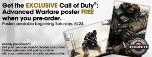 CoD:AW:Gamestopの予約特典にポスターが追加、ただし日本国内での入手は困難