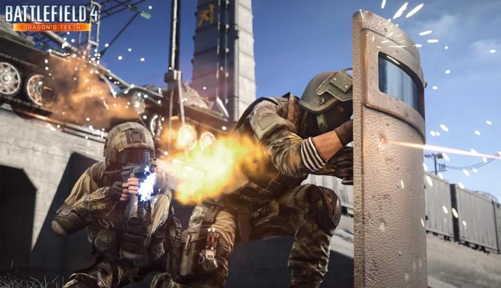 Battlefield 4 : 新装備「防弾シールド」のプレイ動画公開。銃弾弾完全ブロックで一撃キルが可能
