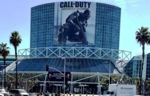 "CoD:AW:E3 2014の開場に巨大な垂れ幕""第一弾""が出現"