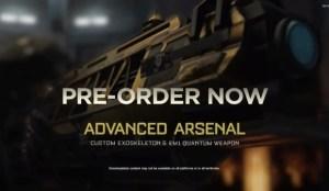 CoD:AW:プリオーダーの特典が判明。限定のEXOスーツと武器