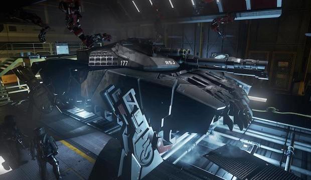 """CoD:AW:未来的多脚戦車""""ホバータンク""""の公式スクリーンショット公開"""