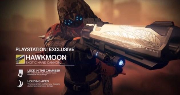 Destiny 武器Hawkmoon(ハンドキャノン)