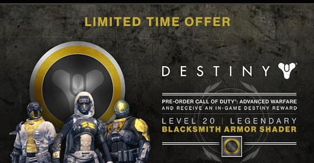 Gamestopで『CoDAW』を予約購入すると『Destiny』のアーマーシェーダーをゲットできるユニークなキャンペーン