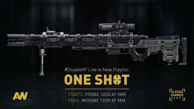 CoD:AW:スナイパーオンリーのプレイリスト「One Shot」登場!ダブルXPも