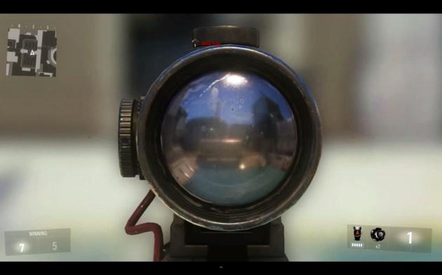 『Call of Duty: Advanced Warfare(コール オブ デューティ アドバンスド・ウォーフェア)』ブラックスコープ 1フレーム目