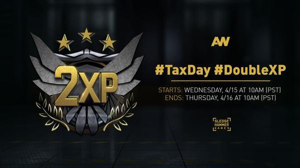 CoD:AW:全機種対象のダブルXP開始、4/17 3:00まで