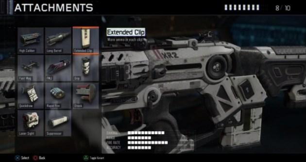 エクステンデッドクリップ:各クリップに弾丸を追加する