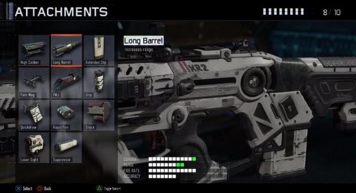 CoD:BO3:アサルトライフルのアタッチメント11種判明
