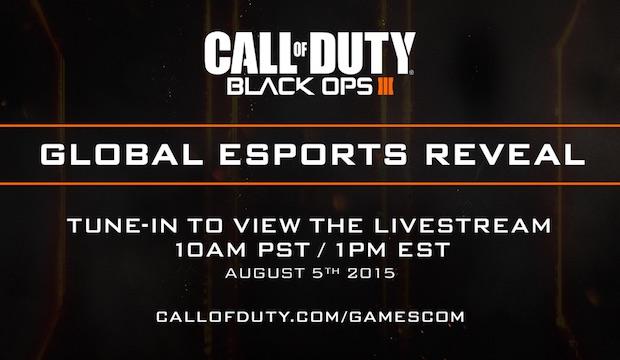 CoD:BO3:eSports関連機能が8月6日に生放送で発表、プロプレイヤーの試合あり