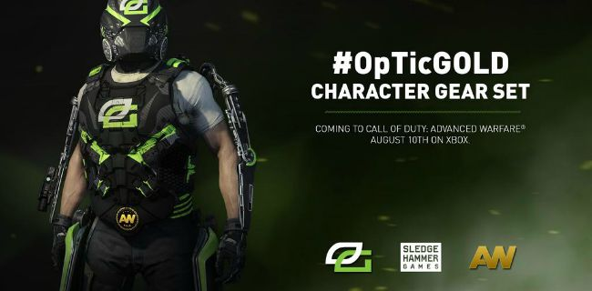 CoD:AW:OpTic Gaming仕様の装備セット発表、近く配信開始