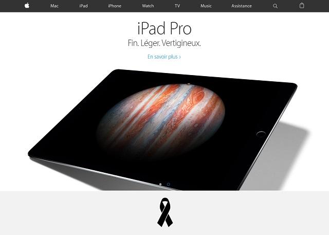 Appleにもブラックリボン