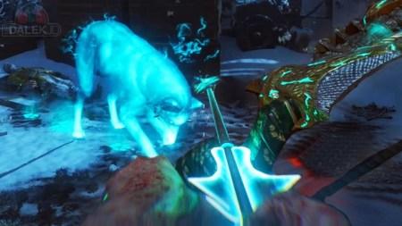 """CoD:BO3:新ゾンビ""""Der Eisendrache""""の弓矢「太古の怒り」アップグレード方法(ウルフ編)"""