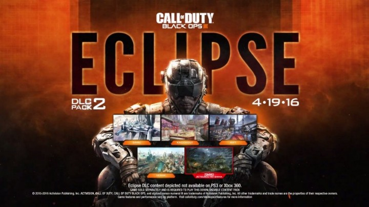 "CoD:BO3:第2弾DLC""Eclipse""正式発表、4月19日にPS4へ先行配信"