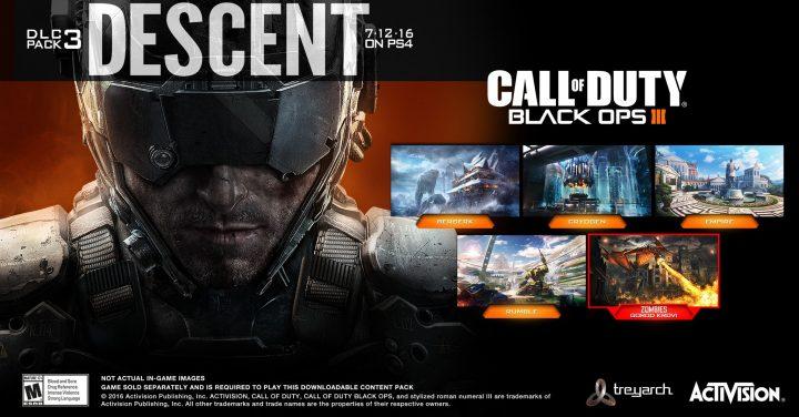 """CoD:BO3: 第3弾DLC""""Descent(ディセント)""""正式発表、PS4へ7月12日配信"""