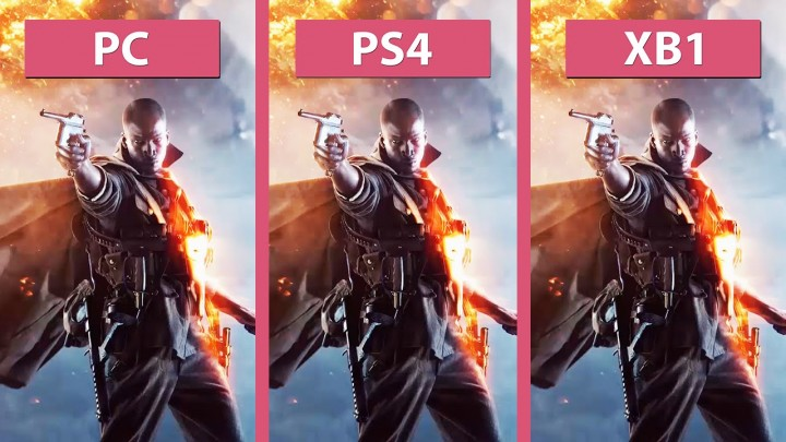 BF1:PC / PS4 / Xbox Oneのグラフィック比較、家庭用機はPS4に軍配か