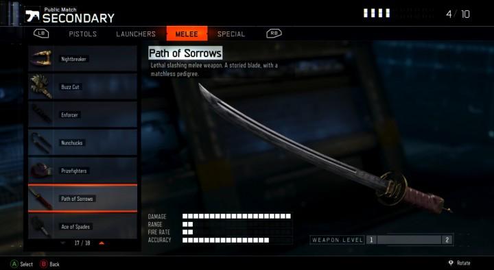 CoD:BO3:新近接武器の日本刀「悲しみの道」とスコップ「スペードのエース」がブラックマーケットに追加