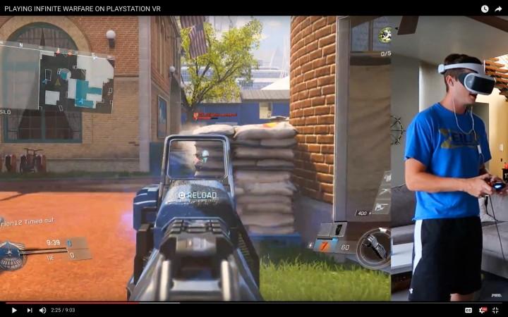 『CoD:IW』をPS VRで強引にプレイした映像