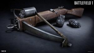 BF1:新武器「Sauterelle」登場? 手榴弾付きクロスボウ