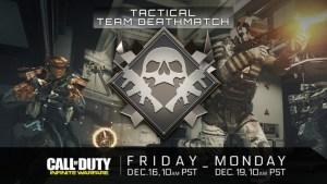 CoD:IW:クラシックCoDファン向けのゲームモード「タクティカルチームデスマッチ」が期間限定で登場