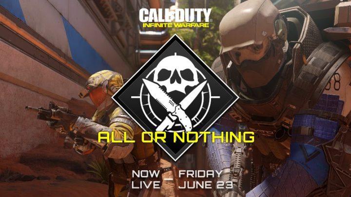 CoD:IW:空のハンドガンと投げナイフのみで始まるゲームモード「All or Nothing」が期間限定で復活