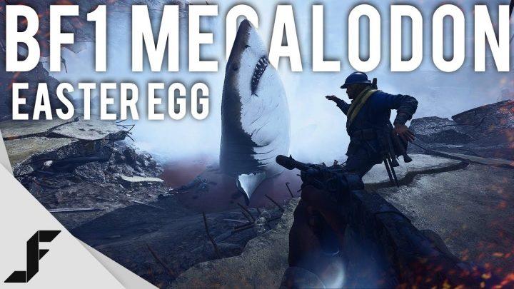 """BF1: 巨大怪物鮫""""メガロドン""""のイースターエッグ、BF1でも発見さる"""