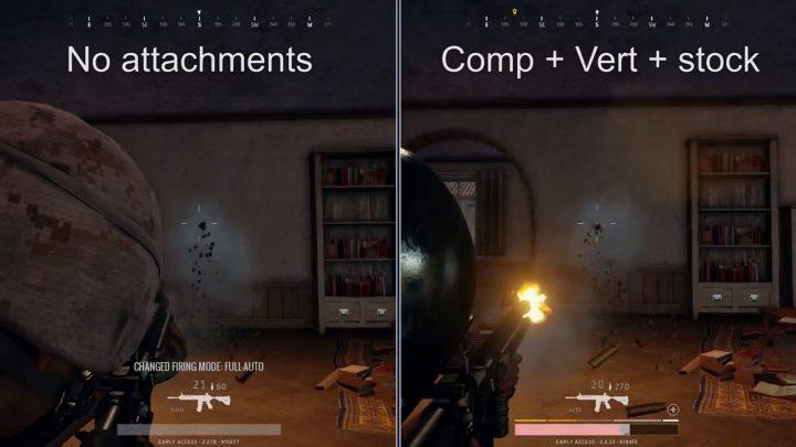 PUBG:各アタッチメントの性能を比較検証した動画が公開、M416用タクティカルストックは効果がない疑惑が発覚